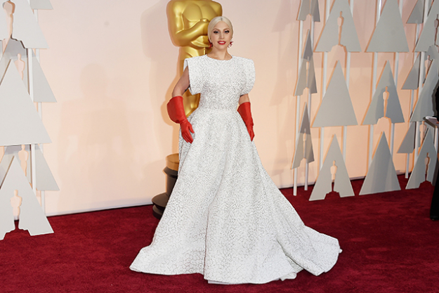 Lady Gaga wearing Alaïa for the 2015 Academy Awards (image: Getty)