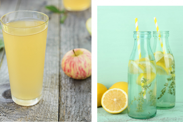 Drinking lemon water vs drinking apple cider vinegar: Both have the same effect to increase our stomach acid production to help aid digestion and kick start our metabolism, however if you chose a fermented apple cider vinegar with the 'mother' in it (like Braggs) you can benefit from increased gut health benefits. Ideally remember to drink through a straw to avoid damaging tooth enamel.