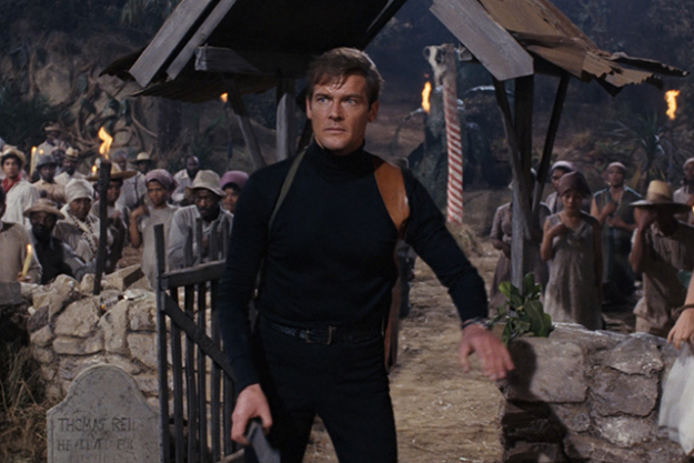 The black turtleneck in 'Live and Let Die'