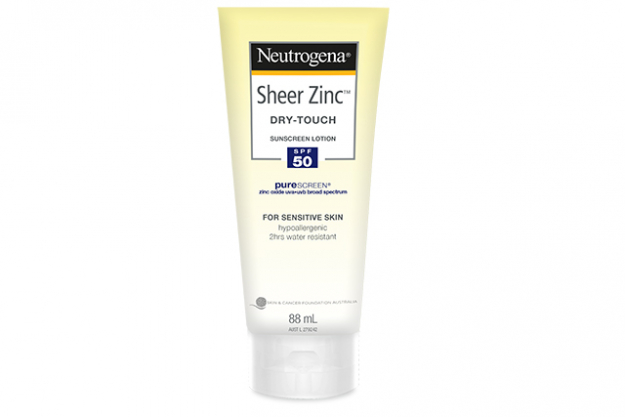 Neutrogena Sheer Zinc Dry-Touch Lotion SPF 50: Neutrogena's new Sheer Zinc Dry-Touch Lotion SPF 50 puts up a strong physical fight against the sun's ageing rays thanks to the Purescreen zinc oxide. And because it's from a skincare brand it also packs an antioxidant skincare punch via the vitamin E. RRP from $19.99.