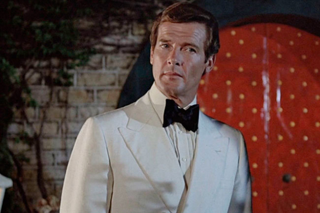 Sir Roger Moore: iconic Bond nailing the white dinner suit