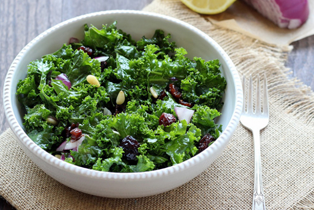 Kale: A source of beta-carotene which acts as an antioxidant in the body and is known to protect against free radical damage from ultraviolet exposure. Great to include in the diet during summer as we spend more time outdoors in the sun!
