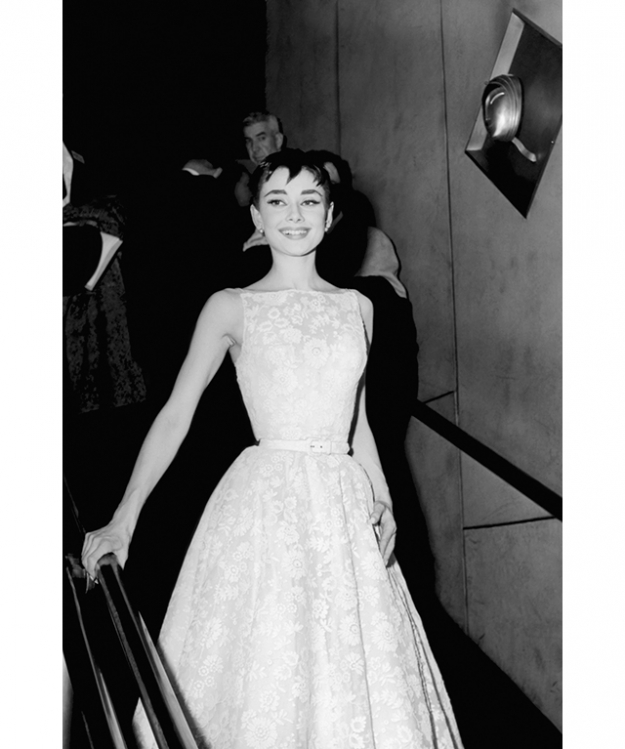 Audrey Hepburn at the 26th Academy Awards wearing Givenchy (image: Getty)