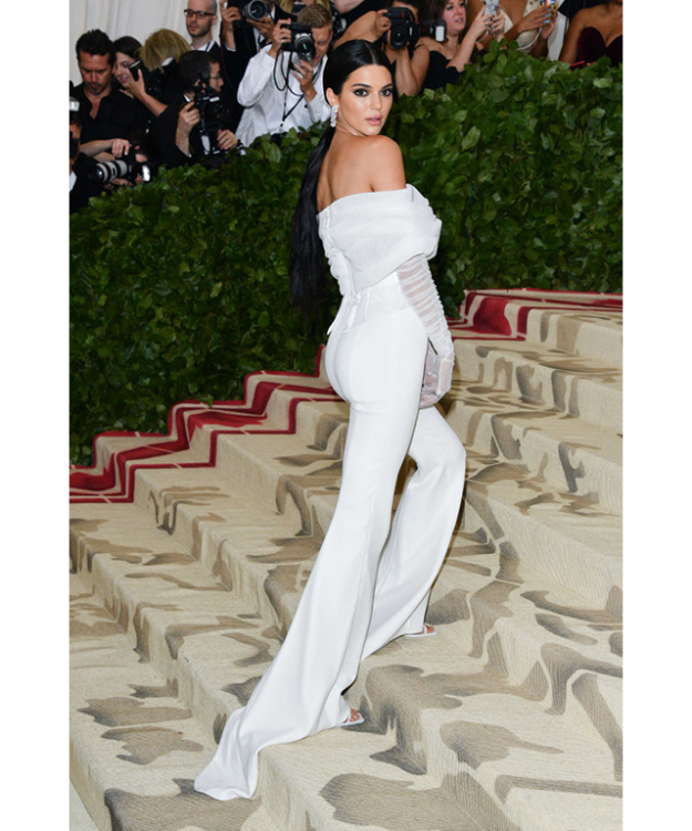 Kendall Jenner wearing Off-White at the Met Gala 2018. Image credit: Getty Images.