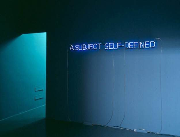 Joseph Kosuth, 'Self Defined Subject', 1966