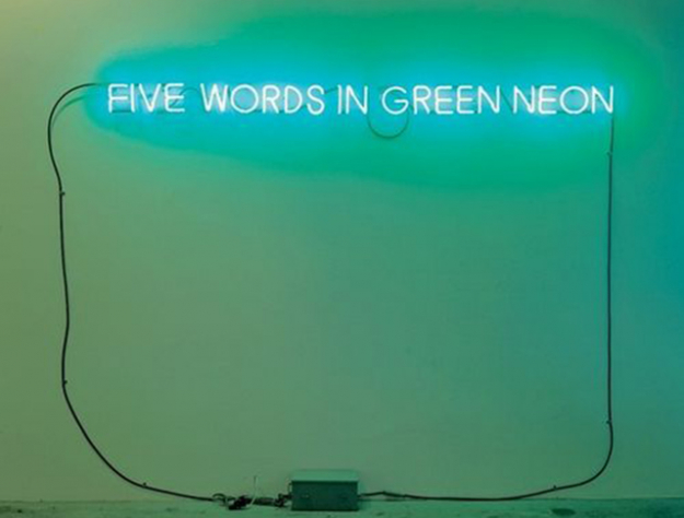Joseph Kosuth, 'Five Words in Green Neon', 1995