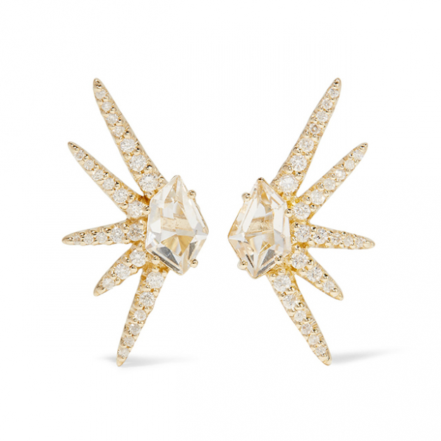 "Alexis Bittar earrings. Perfect for: Derby day - pair with Alexis dress, black Jimmy Choo heels and Eddie Borgo cuff<p><a href=""https://www.theoutnet.com/en-AU/Shop/Product/Alexis-Bittar/Gold-tone-quartz-earring/811719"" target=""_blank"">theoutnet.com/en-AU</a></p>"