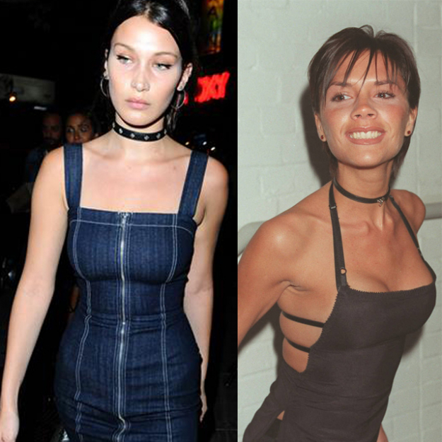 Who would have though Posh Spice (Victoria Beckham's alter ego of the 90s) would prove so inspiring to Bella Hadid?