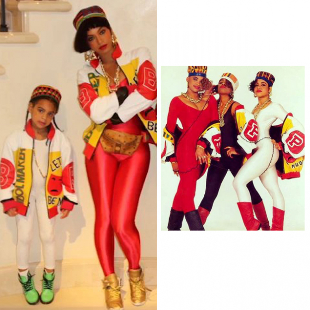 Ok, they are in costume for Halloween but, adorable: Beyonce and Blue Ivy pay tribute to legendary female RNB group, Salt 'n' Pepa