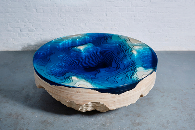 Abyss Round Table, by Christopher Duffy 2016 courtesy of The Artist and Sarah Myerscough Gallery - Sarah Myerscough Gallery