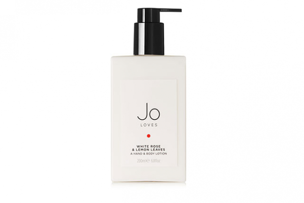 Jo Loves White Rose & Lemon Leaves Hand & Body Lotion, $80: One of Jo Malone's personal favourites, this lush body lotion is infused with rose, lemon, honey and amber notes and will lightly linger as the day goes on.