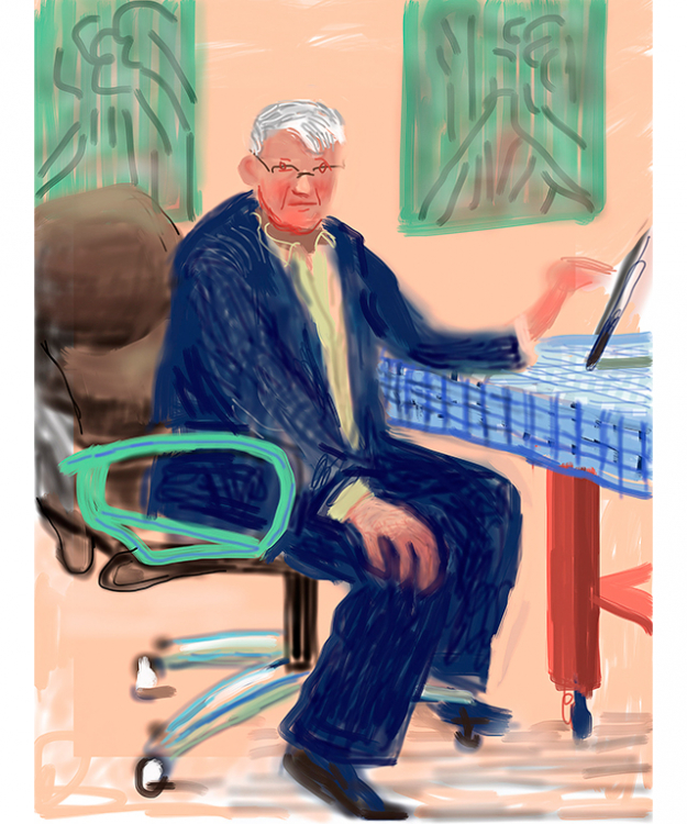 David Hockney English 1937– 'Self Portrait, 25 March 2012, No. 3 (1236)' iPad drawing Collection of the artist © David Hockney.