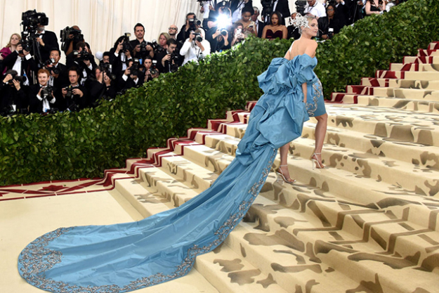 Diane Kruger wearing Prabal Gurung at the Met Gala 2018. Image credit: Getty Images.