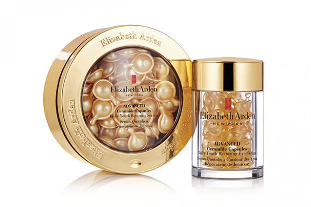 "2.	Elizabeth Arden Advanced Ceramide Capsules Daily Youth Restoring Eye Serum, $115 for 60 capsules. Containing Tsubaki oil, Vitamin A Palmitate (a derivative of vitamin A) and Enhanced Ceramide Lipid Complex, these serum-filled capsules are like drops of anti-ageing gold. The formula is rich and nourishing enough to deliver major moisture, but lightweight enough to sink into skin without leaving any oily residue. A wonder for plumping out fine lines.<p><a style=""font-size: 17px;"" href=""http://www.elizabetharden.com.au/product/580/Advanced-Ceramide-Capsules-Daily-Youth-Restoring-Serum-60-Piece/"">elizabetharden.com.au</a></p>