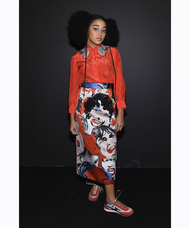 "Amandla Stenberg: Hunger Games fans would recognise her face as the timid but fierce tree-climbing Rue. But It-girls are never a single pronged show; the 19 year-old also has a set of pipes on her, releasing her first single this year, a cover of Mac De Marco's song 'Let My Baby Stay'.<p><a href=""https://www.instagram.com/amandlastenberg/?hl=en"" target=""_blank"">@amandlastenberg</a></p>"