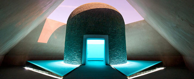 "James Turrell<p><i>'Within Without', 2010. Lighting installation, concrete and basalt stupa, water, earth, landscaping Image via <a target=""_blank"" href=""http://nga.gov.au"">nga.gov.au</a></i></p>