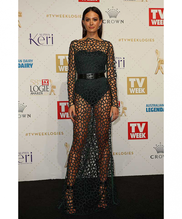 Best dressed at the Logies: Jesinta Campbell in custom Camilla and Marc.