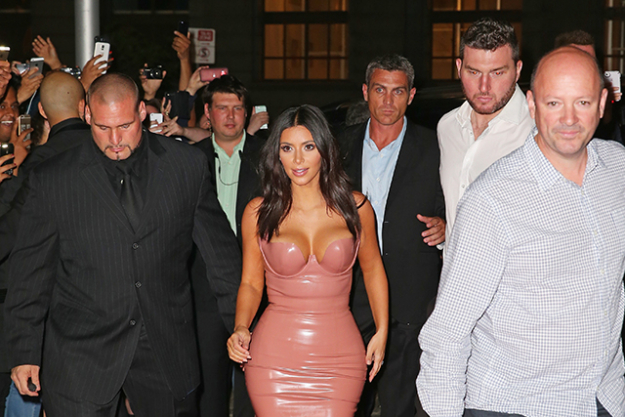 12. According to TMZ, one of Kim's friends was asleep in the apartment at the time of the robbery. Apparently she locked herself in the bathroom and called the family bodyguard Pascal (pictured left). He arrived two minutes after the men had left.