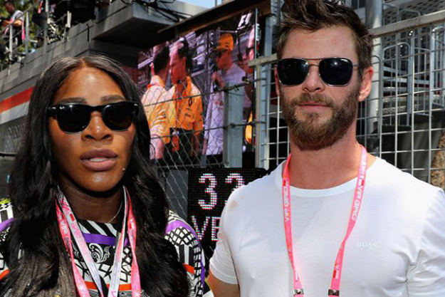 Serena Williams and Chris Hemsworth