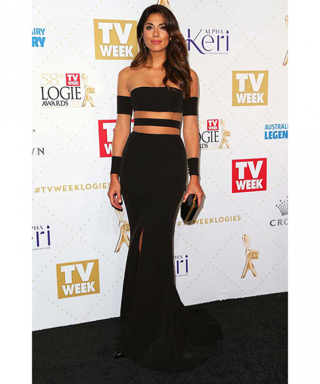 Best dressed at the Logies: Pia Miller in Steven Khalil.