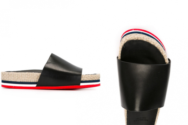 "Moncler slides, $503 at Farfetch.com<p><a target=""_blank"" href=""https://www.farfetch.com/au/shopping/women/moncler-evelyn-slides-item-11860992.aspx?storeid=9952&amp;from=search&amp;ffref=lp_pic_14_126_"">Shop</a></p>"
