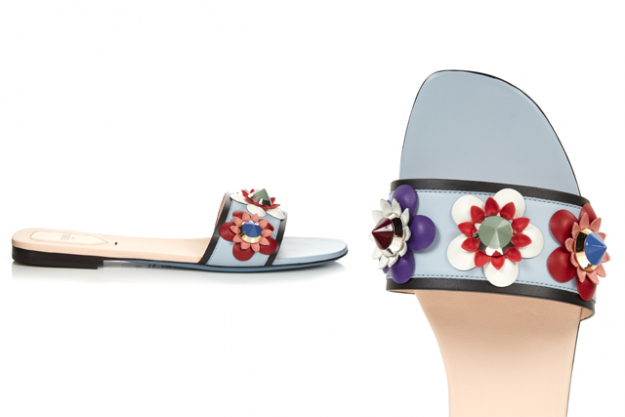 "Fendi leather flower slides, $708 at MatchesFashion.com<p><a target=""_blank"" href=""http://www.matchesfashion.com/products/Fendi-Flowerland-leather-slides--1050171"">Shop</a></p>"