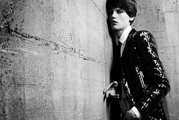 4. Casting Saskia de Brauw in the men's campaign. Next up? Slimane cast Dutch model Saskia de Brauw is the Saint Laurent S/S '13 menswear campaign, just to shake things up. Considering the androgynous appeal of the clothes and models beloved by Slimane, the girl-as-boy casting wasn't exactly a stretch, but it sure was pure PR genius.