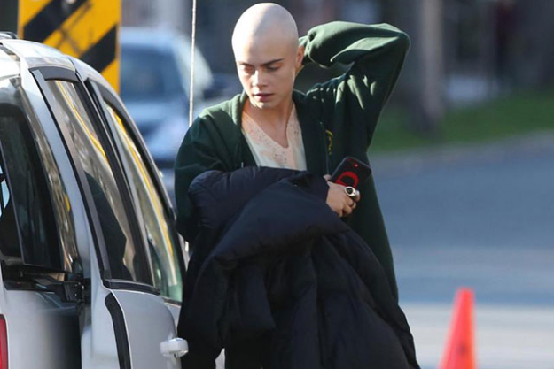Cara Delevingne recently shaved her head for the upcoming film, 'Life in a Year' where she is playing a cancer patient.