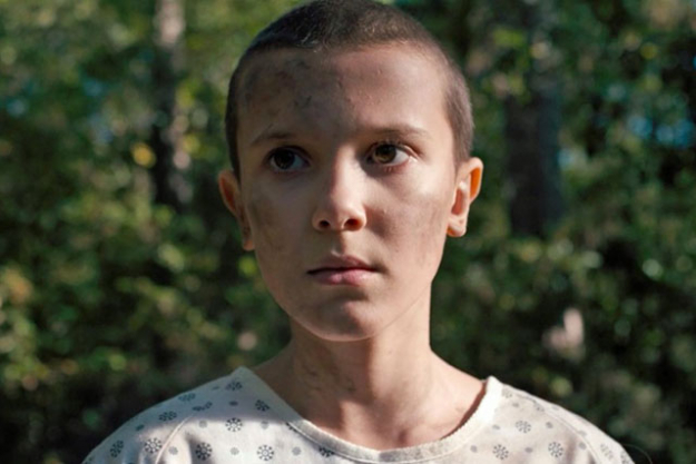 'Stranger Things' star Millie Bobby Brown went for a complete buzz cut for her role as Eleven.