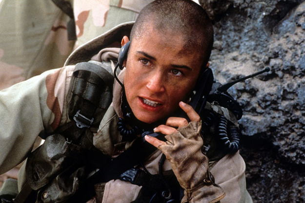 In the iconic scene in 'G.I Jane', Demi Moore pulled out a razor and completely shaved her locks off on screen - so badass.