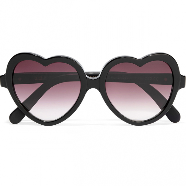 Cutler & Gross heart-shaped sunglasses; $448 at Net-a-Porter.com.