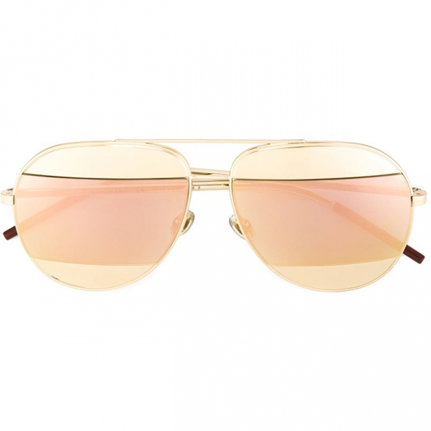 Dior gold tone 'split' sunglasses, $630 at Dior.com.