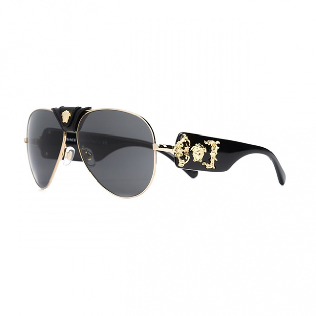 Versace Medusa gold-tone sunglasses; $268 at Farfetch.com.