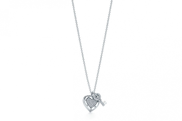 Return to Tiffany® Love lock necklace in sterling silver