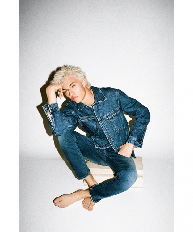 Lucky Blue Smith in the campaign