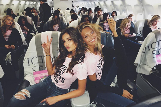Taylor Hill and Romee Strijd