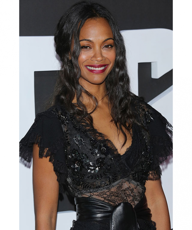 The secret to Zoe Saldana's luscious locks actually belongs in the kitchen. The Avatar actress told Refinery29 she uses mayonnaise in her hair as a natural remedy mask.