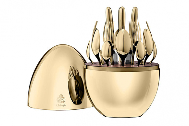 "Christofle egg flatware set<p><a target=""_blank"" href=""https://us.amara.com/products/mood-flatware-egg-set-of-24-24-carat-gold?utm_source=polyvore%20AU&amp;utm_medium=cpc&amp;amss=4nm"">Amara.com</a></p>"