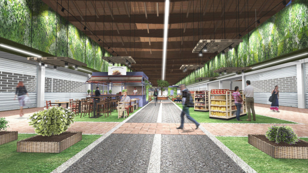 A rendering of Eataly's upcoming food theme park