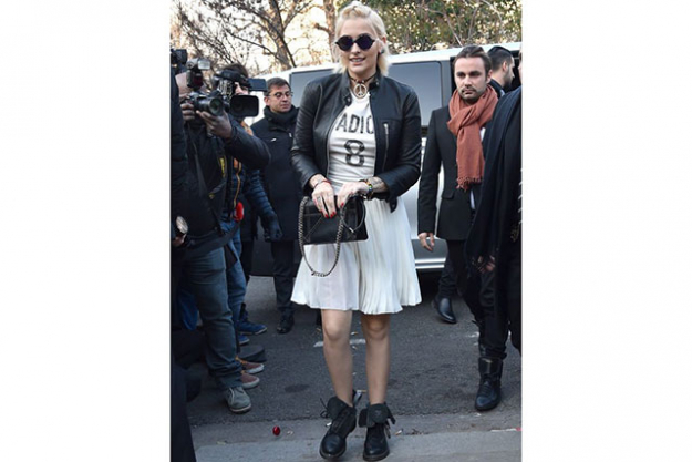Paris Jackson, daughter of late pop star Michael, made her fashion debut attending the Dior show.