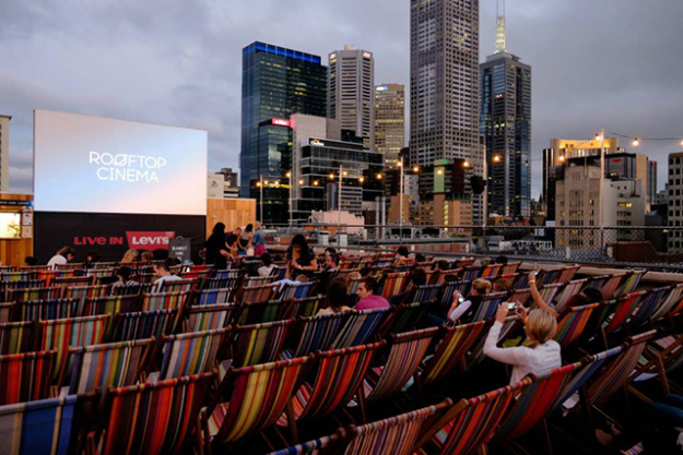 Rooftop Cinema: now approaching its ninth season, Rooftop Cinema remains one of Melbourne's most popular open-air hang-outs. It houses an impressive bar, comfy deckchairs and panoramic views of the city.