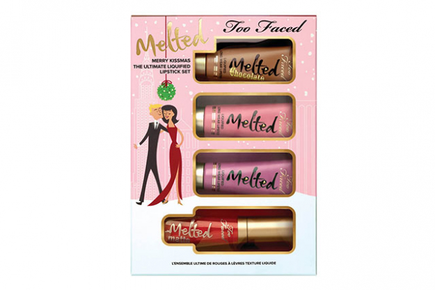 Too Faced Merry Kissmas The Utimate Liquified Lipstick Set, $36 mecca.com.au