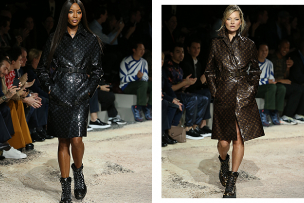 Naomi Campbell and Kate Moss at Louis Vuitton Homme A/W'18