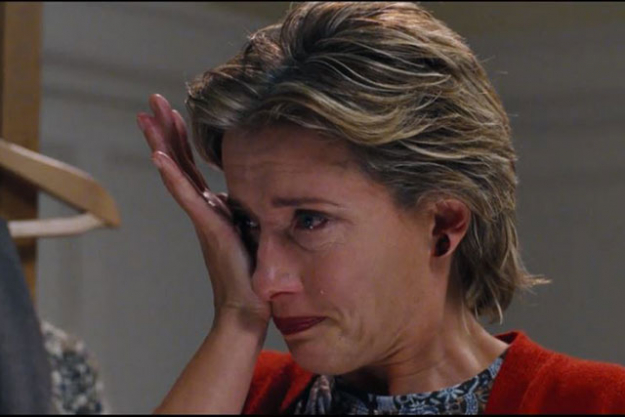 'Love Actually': Who could forget the scene where Karen, played by Emma Thompson, sobs in her bedroom to Joni Mitchell's 'Both Sides Now' after discovering her husband is having an affair? Then, without fuss, she dries her tears and surreptitiously pulls herself together to ferry her children off to their Christmas concert. She demonstrates a strength and dedication to her children that makes your heart flutter with admiration.