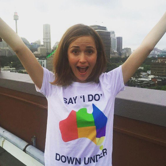 "Rose Byrne<p>In a statement to <i>&nbsp;The Daily Mail,</i>&nbsp;Byrne explained: ""<span>I am pro-gay marriage and I think it's ridiculous people can't marry who they want to marry in Australia in this day and age.""</span></p>