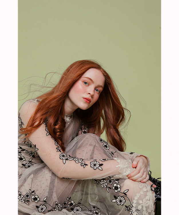 "Sadie Sink: new girl on The Stranger Things block and late comer to the It-girl list is 15 year-old Sadie Sink. With her cherub face and strawberry blonde hair the American actress is going to be one to watch for the rest of 2017.<p><a target=""_blank"" href=""https://www.instagram.com/sadiesink_/?hl=en"">@sadiesink_</a></p>"