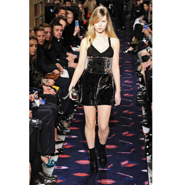 Kate Moss' neice, Lottie, makes her runway debut on the Sonia Rykiel catwalk, Autumn Winter 2015