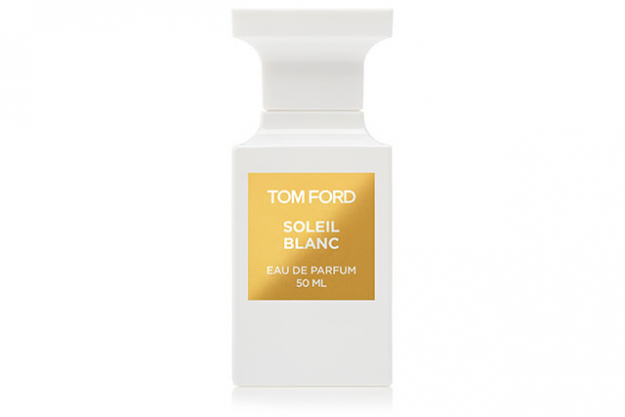 "Tom Ford Soleil Blanc: After one spritz of this Tom Ford fragrance, you'll be instantly transported to a luxurious, tropical island. With strong notes of coconut milk mixed with bergamot, it has a strong holiday-like smell where you can't help but go ""ahhhh"". $325, davidjones.com.au"