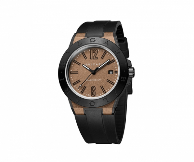 "Diagono Magnesium watch with 41mm case, ceramic bezel and rubber bracelet<p><a href=""http://www.bulgari.com/en-au/"" target=""_blank"">bulgari.com</a></p>"