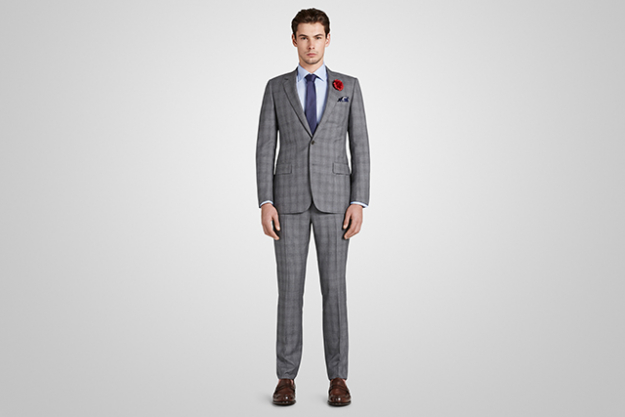 Harrolds Private Label French Suit in Light Grey Check